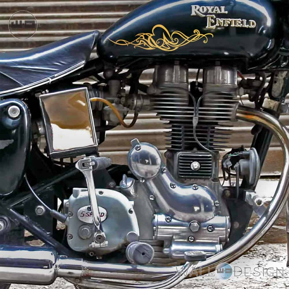 WallDesign Motorcycle Stickers Love Is Like Oxygen Gold Reflective Vinyl