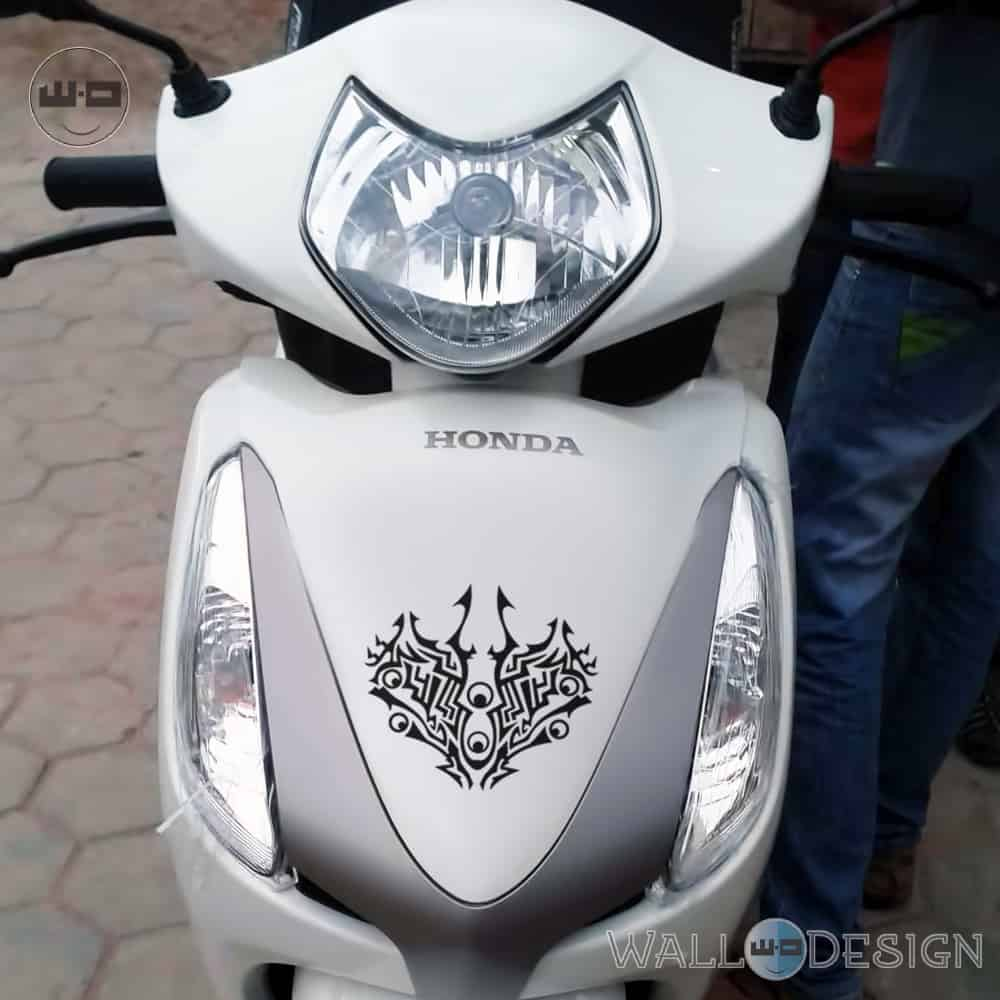 WallDesign Design Stickers For Scooter Moto Tribe Black Reflective Vinyl