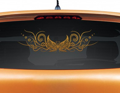 Bubbly Butterfly Car Graphics