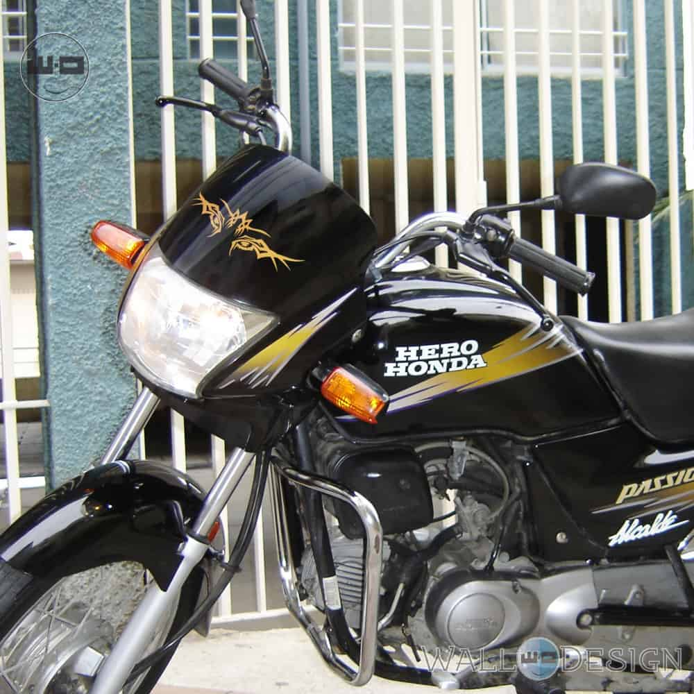 WallDesign Graphics Bike Stickering Tiger Eye Gold Reflective Vinyl