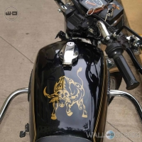 WallDesign Decals For Bikes Buffalo Soldier Gold Stickers Reflective Vinyl