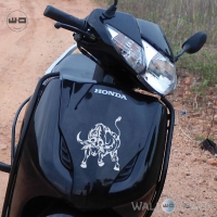 WallDesign Stickers For Scooter Buffalo Soldier Silver Reflective Vinyl