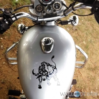 WallDesign Cool Stickers For Bikes Buffalo Soldier Black Reflective Vinyl