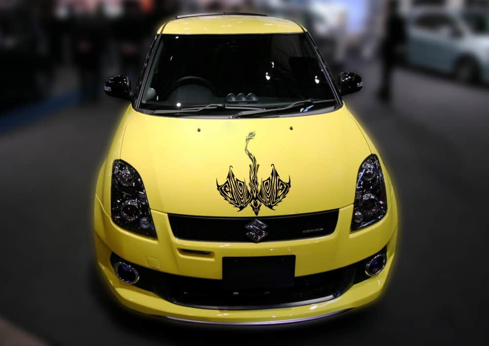 Dragon Avatar Black Bonnet Car Sticker