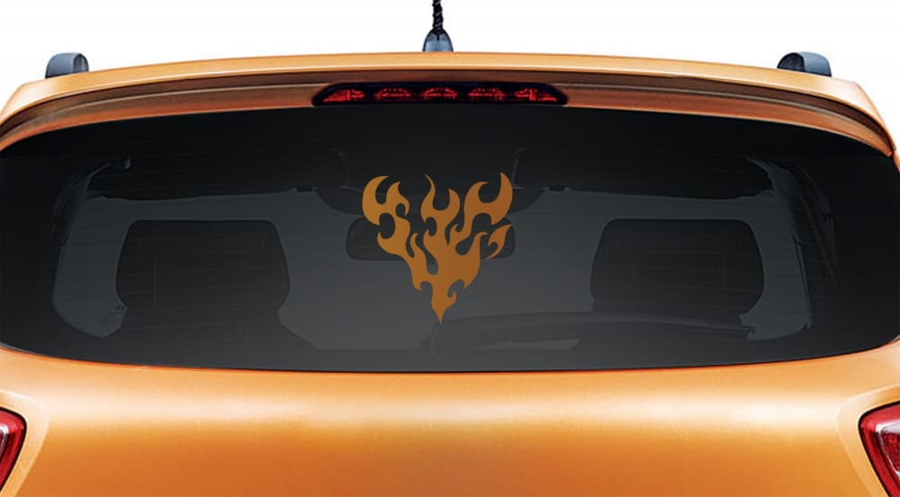 Hearty Life Copper Rear Car Sticker