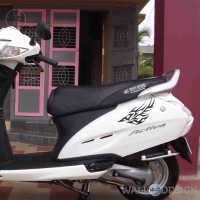 WallDesign Scooter Stickers Swordfish Black Reflective Vinyl