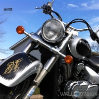 WallDesign Stickers For Motorbikes Power Wave Of Aum Copper Reflective Vinyl
