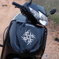 WallDesign Stickers Graphics For Bikes Tribal Chakra Silver Reflective Vinyl