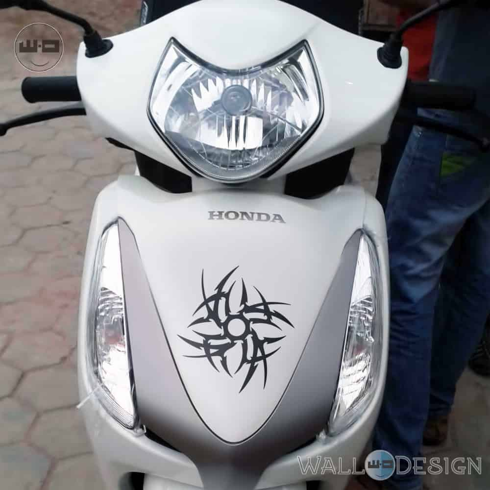 WallDesign Design Stickers For Scooter Tribal Chakra Black Reflective Vinyl