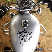 WallDesign Motorcycle Stickers Fly Like A Horse Black Reflective Vinyl