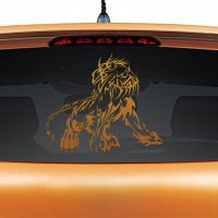 Majestic Lion Copper Rear Car Sticker