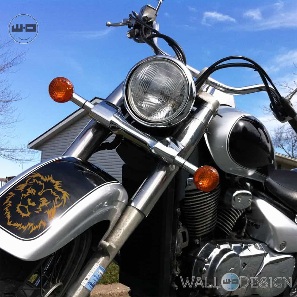 WallDesign Radium Stickers Design For Bikes Lion King Copper Reflective Vinyl