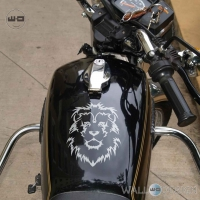 WallDesign Stickers For Bikes Online Lion King Silver Reflective Vinyl