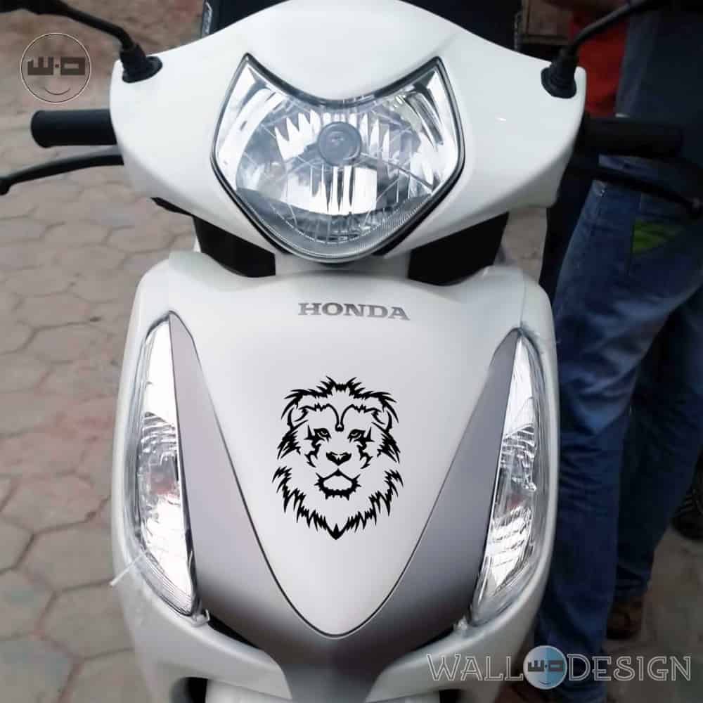 WallDesign Cool Scooter Stickers Lion King Black Reflective Vinyl