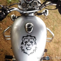 WallDesign Cool Stickers For Bikes Lion King Black Reflective Vinyl