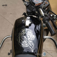 WallDesign Bike Graphics And Stickers Lion Pride Silver Reflective Vinyl