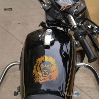WallDesign Custom Bike Stickers Lion Style Copper Reflective Vinyl