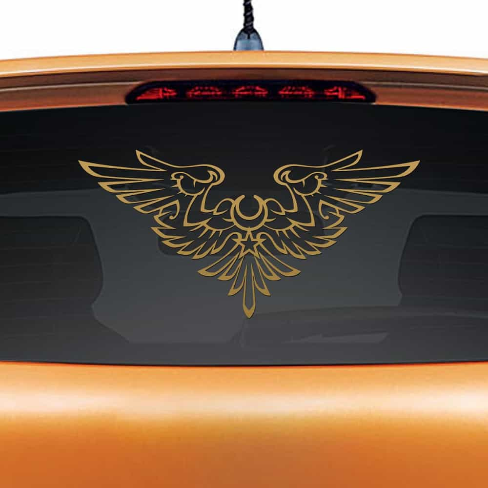 Man At Arms Gold Rear Car Sticker