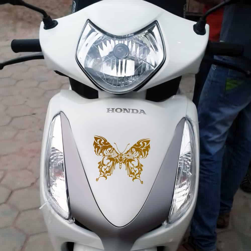 WallDesign Motorbike Stickers Heavens Bells Butterfly Copper Reflective Vinyl