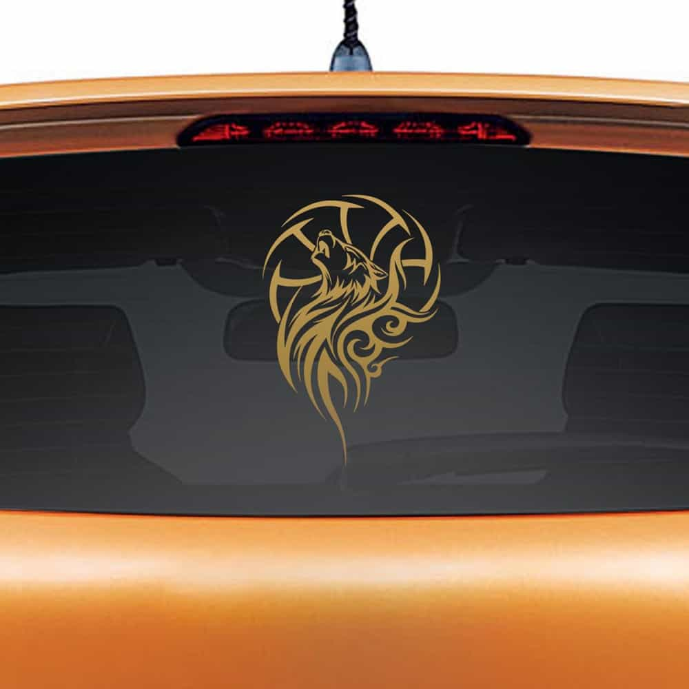 Dream Catcher Copper Rear Car Sticker