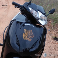 WallDesign Scooter Stickers Tribal Tiger Copper Reflective Vinyl
