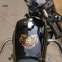WallDesign Bike Body Stickers Tigers Den Copper Reflective Vinyl