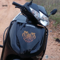 WallDesign Scooter Body Stickers Tigers Den Copper Reflective Vinyl