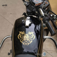 WallDesign Graphics For Bike Stickering Tigers Den Gold Reflective Vinyl
