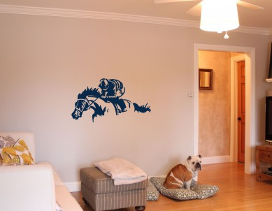 Jockey Racer Wall Sticker