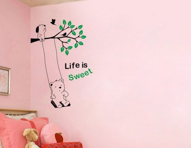 Life is sweet Wall Sticker