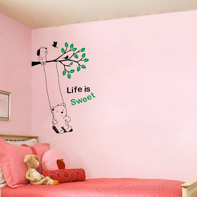 Life is sweet Kid2 room sticker