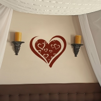 Boom Boom Heart Living2 room decal