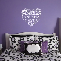 Name love heart Bedroom2 sticker