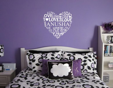 Name love heart Wall Sticker