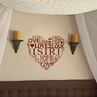Name love heart Bedroom3 decal