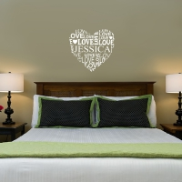 Name love heart Bedroom4 decal