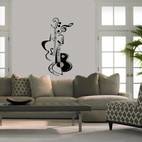 Guitar Living room sticker