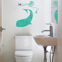 Dolphin Pattern Bathroom sticker
