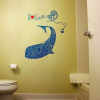 Dolphin Pattern Bathroom2 sticker