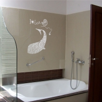 Dolphin Pattern Bathroom3 decal