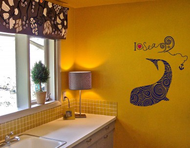 Dolphin Pattern Wall Sticker