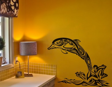 I Love Dolphin Wall Sticker
