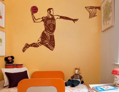 Basketball Dunk Wall Sticker