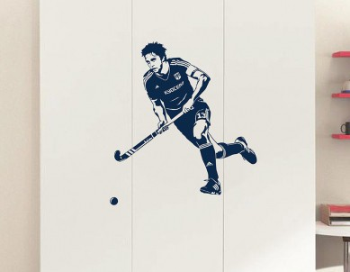 Hockey Shot Wall Sticker