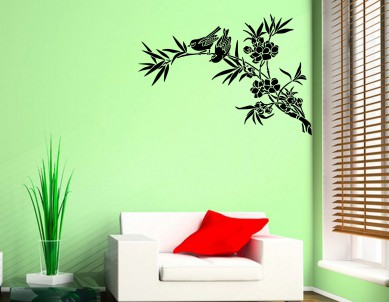 Asian bird-1 Wall Sticker