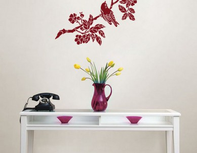Asian bird-2 Wall Sticker