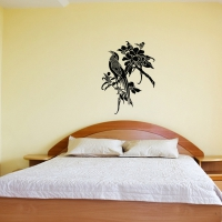 Asian bird 3 Bedroom decal