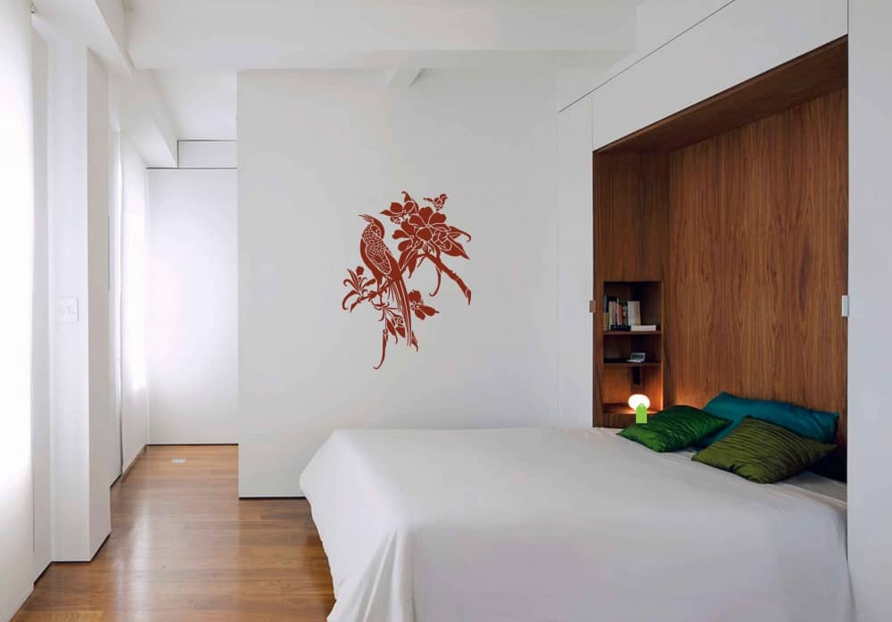 Asian bird 3 Bedroom2 sticker