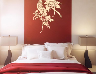 Asian bird-3 Wall Sticker