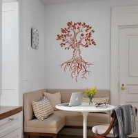 Beautiful root tree Living room decal